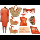 orange designer dress by Indian fashion designer Satya Suman