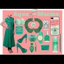 Indian Designer Label ' The Citrine' presents designer emerald green anarkali