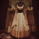 Gorgeous Copper Toned Floral Embroidered Lehenga by Manish Malhotra