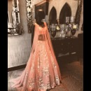 Pretty Lehenga in Pastel at Manish Malhotra's Mumbai Store