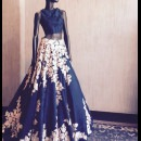 Blue and White Embroidered Detailing by Manish Malhotra
