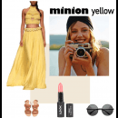 Minion Yellow - Polyvore Featuring Stunning Rinku Sobti Two Piece