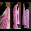 Beautiful Lilac Saree with an Embroidered Border from Priti Sahni