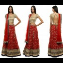 Modern and Stylish Light Take on a Traditional Red Lehenga