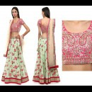 Gota Patti Embroidered Blouse and Floral Lehenga by Priti Sahni