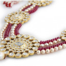 Rubies and Uncut Diamond Necklace by Roopa Vohra