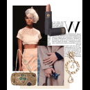 Catwalk outfit from Wills Lifestyle Fashion week by Siddartha Tytler, featuring stunning clutch by Meera Mahadevia and earrings by Ambar Pariddi Sahai