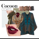 Cocoon Coats and Autumnal shades - featuring stunning earrings by Roopa Vohra
