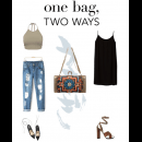 One Bag Two Ways Featuring Stunning Meera Mahadevia Clutch Bag | Polyvore Featuring Meera Mahadevia Clutch