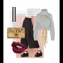 The perfect Autumn/Winter accessories, featuring Meera Mahadevia clutch and Sannam Chopra necklace