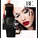 Lace and Leather | Polyvore featuring Swatee Singh