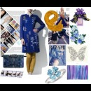 Strand of Silk - Indian Fashion Designer - AM:PM - blue and yellow fusion
