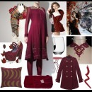 Strand of Silk - Indian Fashion Designer - AM:PM - Wine inspired Salwar suits