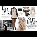Strand of Silk - Indian Fashion Designer - Manoviraj Khosla - Black and White