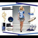 indian fashion designers blue items Meera Mahadevia Two Tone Pumps