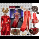 Red Bridal Dresses by Indian Fashion Designer Narendra Kumar