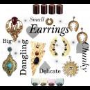indian designers Sannam Chopra autumn candles earrings