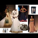 indian designers SVA dresses with metallic nail polish - Indian Fashion Designers