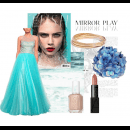 Spring Blues | Polyvore Featuring Jyotsna Tiwari Gown