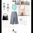 Mint Earrings Feature - Chic and Classy | Polyvore Featuring Ambar Pariddi Sahai
