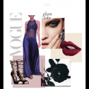 Vouge Chic: Stunning Silk and Lace Number in Midnight Blue by Sougat Paul