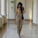 Neha Oberoi in a Sunflower Jumpsuit from Surendri by Yogesh Chaudhary