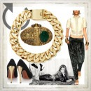 Indian Fashion Designer - Strand of Silk - Meera Mahadevia's Gold and Emerald Clutch Bag