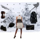Elegant in snow - Choker Collar Hakoba Dress by Indian Designer Manoviraj Khosla