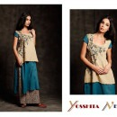 Beautiful Floral Detailing on Contrasting Colours from Yosshita & Neha