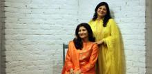 Designer duo Kavita Jain and Priyanka Jain for their brand Devnaagri