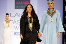 Indian Jewelry by designer Nitya Arora for her brand Valliyan on the ramp