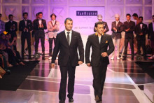 Indian Fashion Designer Ashish Soni and Salman Khan on the ramp