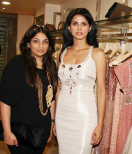 Indian Fashion Designer Payal Singhal with a Bollywood Actress