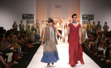 Indian Fashion Designer Urvashi Kaur on the Ramp