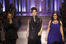 Indian Designers of Contemporary Indian Clothes - Pankaj and Nidhi on the ramp