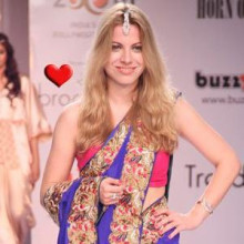 strand of silk - fashion from india - julia bruchwitz