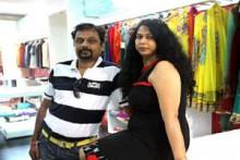 Indian fashion designers Niket and Jainee