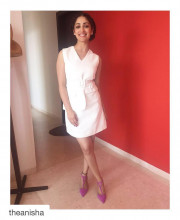 Yami Gautam wearing a Madison on Pedder Dress, Isharya jewellery for an Aircel event