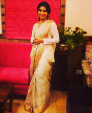 Konkona Sen Sharma in a Dev R Nil outfit for the music launch of her movie Shesher Kobita (Tagore's The Last Poem) Picture: Instagram