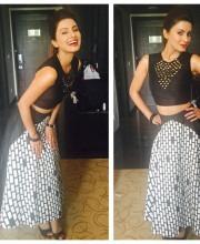 Geeta Basra wearing Urvashi Joneja