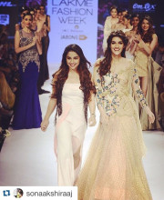 Kirti Sanon for Sonaakshi Raaj at Lakme Fashion Week Winter Festive 2015