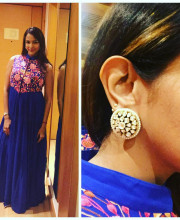 Lakshmi Manchu wearing Hirika Jagani and jewellery by House of Shikha for the launch of Teach for Change Initiative in Chennai Picture: Instagram