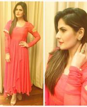 Zareen Khan Wearing Ritu Seksaria for Dusshera