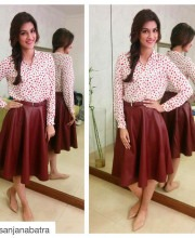 Kirti Sanon Promoting Dilwale in a Madison on Peddar Skirt
