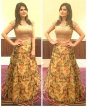 Zareen Khan wearing Reeti Arneja