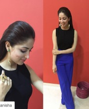 Yami Gautam wearing earrings by Eurumme and ring by Micare jewellery