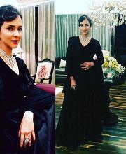 Lakshmi Manchu wearing Varun Bahl for Kresha Bajaj's reception