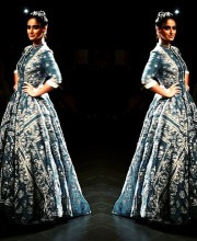 Ileana D'Cruz in a Dress by Rahul Mishra at Lakme Fashion Week