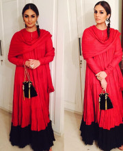 Huma Qureshi in an Outfit by Rohit Bal
