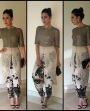 Karisma Kapoor in a Metallic Anamika Khanna Outfit